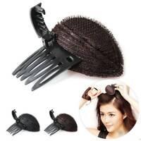Forehead Hair Volume Fluffy Puff Sponge Pad Clip Comb Insert Base DIY Styling