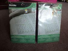 Bucilla Kit Stamped Cross Stitch Quilt Blocks 2 Pkg of 6 Buttercup Pattern New