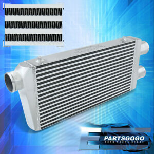 """For Universal 2 Inlet to 1 Outlet FMIC Front Mount Intercooler 32.25""""x11.75""""x3"""""""