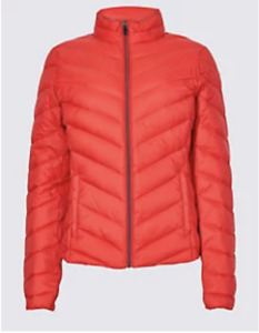 M&S COLLECTION CHILLI, EMERALD or SOFT YELLOW LIGHTWEIGHT DOWN & FEATHER JACKET