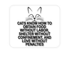 Custom Mouse Pad 1/4 - Cats Obtain Food without Labor