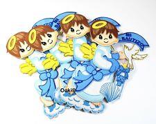 10pc Blue Boy Angel Cutout Die Cut Mi Bautizo Baby Shower Party Scrapbook Decor