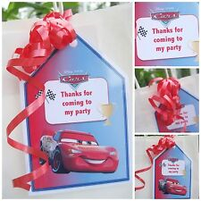 5 x Personalised thankyou DISNEY CARS Party Bag tags PARTY BAG LABELS GIFT TAGS