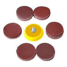 New Sale 60pcs 2inch Mix Grit Sander Disc Sanding Polishing Pad Drill Adapter