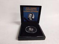 2013 Tristen da Cunha John F. Kennedy Commemorative Platinum Coin Only 250 made