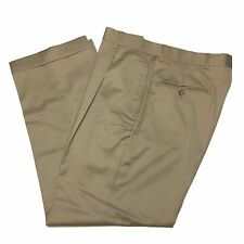 TOMMY HILFIGER Mens 30/28 Beige Tan Pleated Front Wool Dress Pants/Trousers