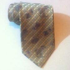 NEW Robert Talbott NORDSTROM Silk NECK TIE Gold & Silver Woven Fishing Lure Fish