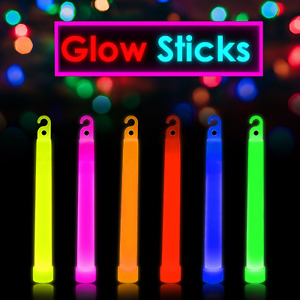 6/25 Premium Glow Sticks 6inch Long Party Neon Color Safety Light Party Favors