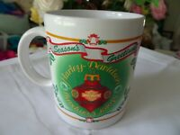 Harley Davidson Motor Co. 1996 Seasons Greetings Christmas Coffee Cup / Mug-NOS