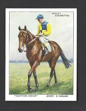 WILLS - RACEHORSES & JOCKEYS 1938 - #24 SCOTTISH UNION
