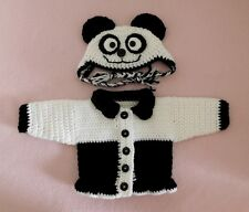 """American Girl Doll Clothes Black White Panda Sweater Hat Fits American Girl 18"""""""