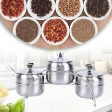 3 PCS Condiment Jars Spice Kitchen Rack Spice Pots Storage Container Spice Jars