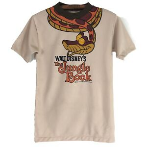 Vtg Walt Disney Jungle Book T-Shirt 1967s Double Sided Tee Polyester Knit Sm-M