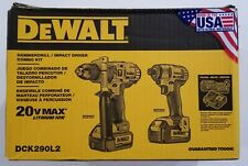 DEWALT DCK290L2 20V 20 VOLT Li-Ion 3.0 Ah Hammer Drill & Impact Driver combo NIP