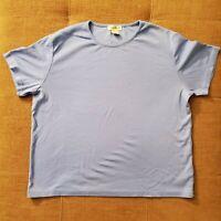 Women's EDDIE BAUER Crew Neck Tee Shirt Top Size XXL Blue 100% Cotton