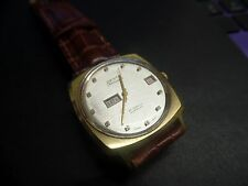 Vintage Desta automatic Day Date Watch 25 jewels unusual day window