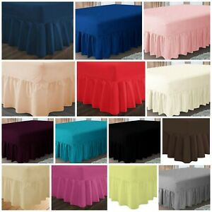 100% PolyCotton Extra Deep Fitted Valance Sheets Bed Sheet Single Double King SK