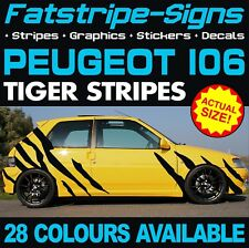 PEUGEOT 106 GRAPHICS TIGER STRIPES DECALS STICKERS GTI PUG 1.1 1.3 1.4 1.5 1.6