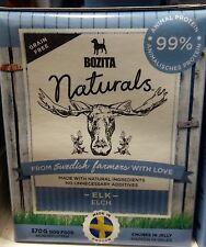 Bozita Naturals dog food with ELK Swedish natural ingredients chunks jelly 370g