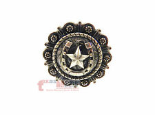 Texas Star Horseshoe Cabinet Drawer Knob Pull Western Decor Old Silver 1.5""