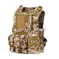 Military Army Airsoft Paintball Assault Tactical Hunting Molle Combat Vest Aor1