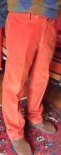 Pantaloni Incotex in velluto 100 % cotone colore ruggine tg.50 pari al nuovo