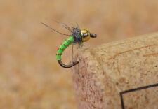 12 Flies Beadhead Caddis Larva Fishing Flies - Mustad Signature Fly Hooks