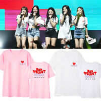 KPOP Red Velvet T-shirt Redmare Concert Tshirt Wendy Joy Casual Tee Tops