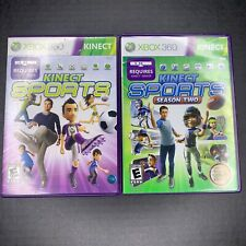 Kinect Sports: Season One 1 & Two 2 Bundle Lot - Xbox 360 - Tested and Complete