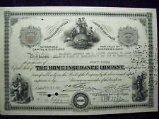 THE HOME INSURANCE COMPANY STOCK CERTIFICATE