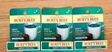 Burt's Bees Mint Cocoa Lip Balm Limited Edition New In Box Lot of 3