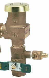 "Watts PRESSURE VACUUM BREAKER, 800M4-FR, 3/4""  w/ extra drain VALVE"