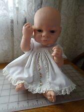 """2004 Cititoy Plastic Newborn Baby Doll 14"""" Blue Eyed Toy w Eyelashes"""