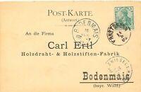 """DEUTSCHES REICH 1902 Germania 5 Pfg m Fingerhut-K1 """"ERNSTBRUNN"""" (Österreich) Bf"""
