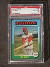 1975 Lee May # 25 Astros PSA 8 NM-MT