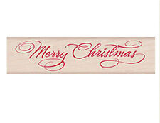 "HERO ARTS ""SCRIPT CHRISTMAS"" XMAS RUBBER STAMP"