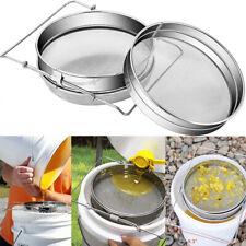 Stainless Steel Beekeeping Double Honey Sieve Strainer Filter Apiary Equipment