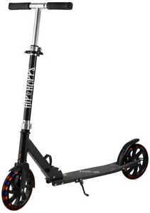 Roller Scooter mit leuchträder Kickroller bis 100 kg Räder 20 cm Kugelllager