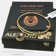 Authentic Alex and Ani Fortune's Favor Rafaelian Gold Expandable Charm Bangle