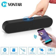 Black Bluetooth Speaker Portable Wireless Bass Stereo TF Usb Outdoor Loudspeaker