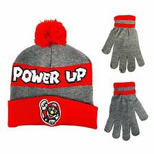Nintendo Super Mario Brothers Boys Winter Hat and Gloves Kids Children Gift Toy