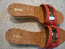 "Michael Kors Womens Warren Open Toe ""Watermelon"" Casual Slide Sandals New 8 1/2M"