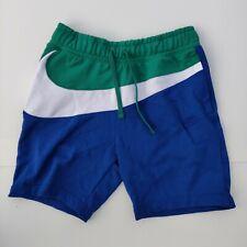 Size L Nike Mens Sportswear NSW HBR Big Swoosh Shorts Blue Green AR3161-439