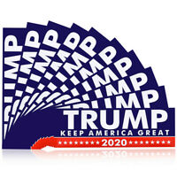 10Pcs Donald Trump for President 2020 Keep America Great Again Bumper Stickers