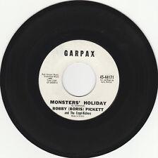 HALLOWEEN NOVELTY 45 RPM - BOBBY(BORIS) PICKETT ON GARPAX RECORDS