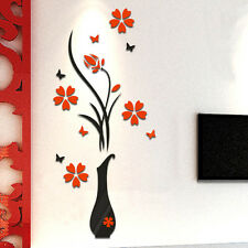 3D Flower Home&Room Decor DIY Wall Sticker Removable Acrylic Decal Mural Fashion