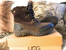 Women's UGG Ostrander Stout Leather/Suede Hiking Mid Boots - D.Brown US9M