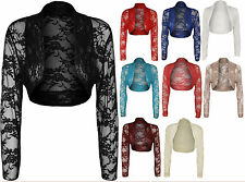 Women's Thin Knit Boleros Shrugs Floral Jumpers & Cardigans