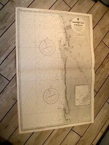 Vintage Admiralty Chart 3859 S. W. AFRICA - SWAKOPMUND to SPENCER BAY 1932 edn