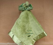 Bearington Bears Baby Hoppin Hugs Grasshopper Super Soft Satin Lined Blanket